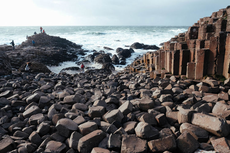 Ireland Ireland🍀 Land Landscape Giants Causeway UNESCO World Heritage Site Sea Water Rock Solid Beach Horizon Over Water Beauty In Nature Stone - Object Scenics - Nature