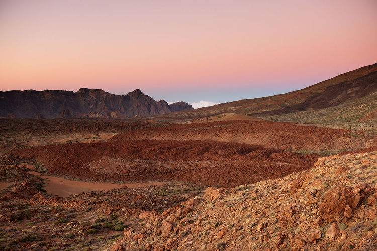 Scenic View Of Landscape At El Teide National Park Against Sky