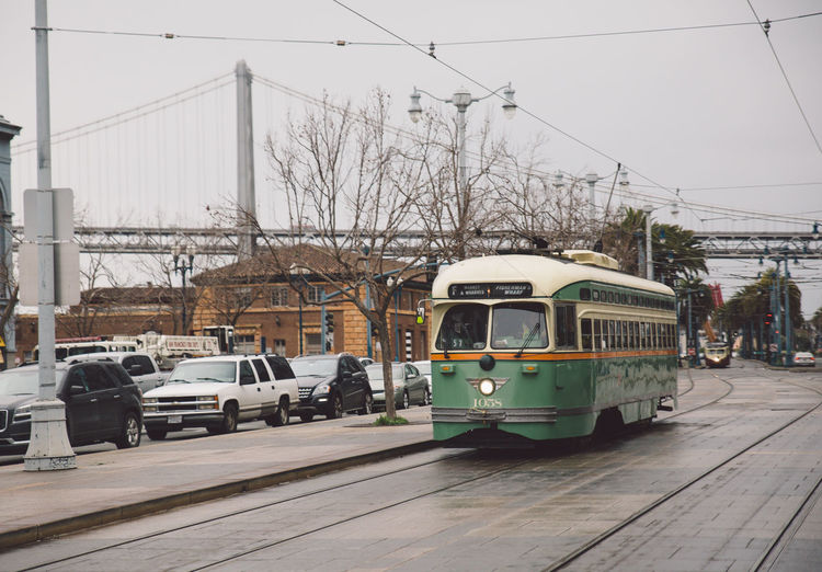 2017 Architecture Building Exterior Built Structure Cable City Day February Land Vehicle Mode Of Transport No People Outdoors Public Transportation Road San Francisco Sky Street Tram Transportation Winter