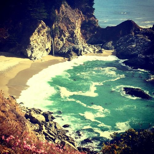 Big Sur Julia Pfeiffer Burns State Park California Love On The Road EndlessLove Colors Amazing View Taking Photos Paradise Beachphotography Ocean View Nature_collection Aroundtheworld Magic Color Capture The Moment California Magnifique Wonderful MyPhotography Waves, Ocean, Nature California Coast Beautiful Happiness Hello World