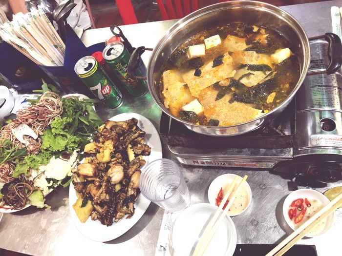 Food in vietnam Phố Cổ Food And Drink Food Freshness Ready-to-eat High Angle View Indoors  Table