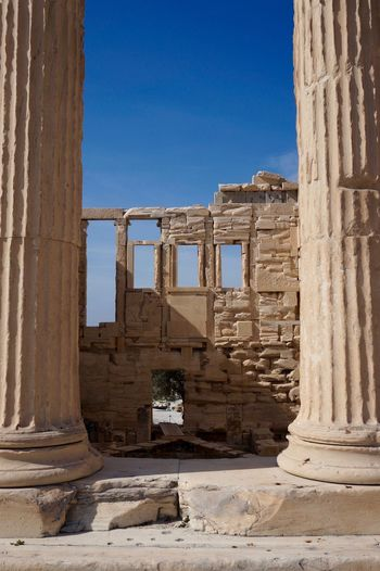 Columns and windows Acropolis Acropolis, Athens Ancient Ancient Civilization Ancient History Archaeology Architectural Column Architecture Architecture Athens Athens, Greece Building Exterior Classic Columns Cultures History Old Ruin Outdoors Travel Destinations Travel Photography Traveling Window Windows