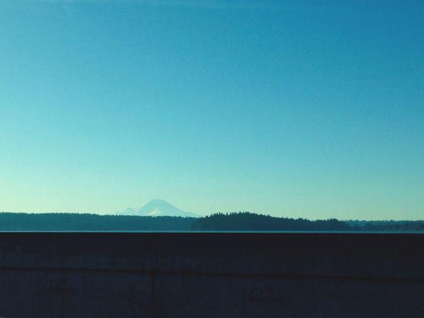 On the I-90 bridge Floating Bridge Bridge Mountain View