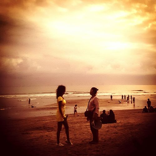 Meet with new friend somewhere ... Bali Meet Friendship EyeEm Selects Sunset Beach