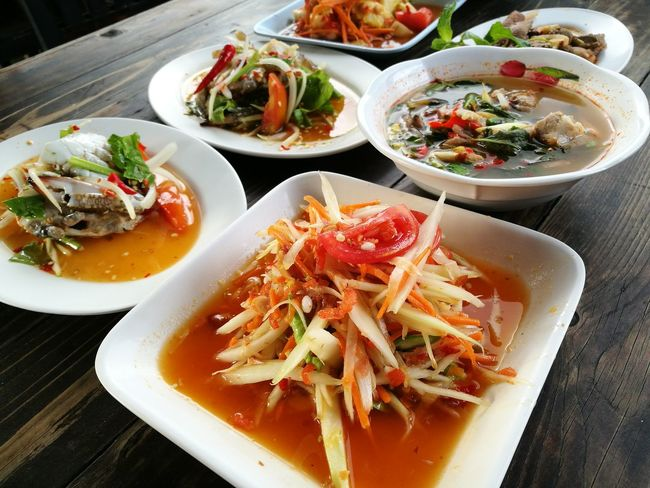 Thai food Food Spicy Thai Food Somtum Thai