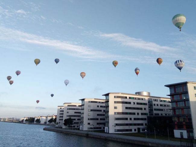 Up, up and away E6 Balloons Postcode Postcards