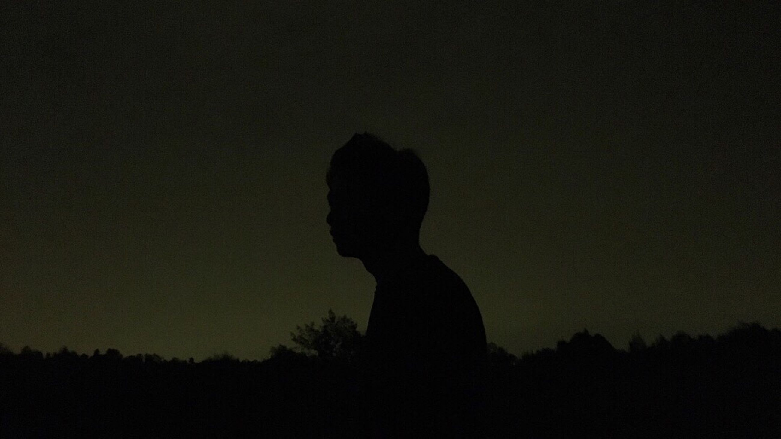 silhouette, real people, one person, sunset, men, leisure activity, nature, lifestyles, women, tree, outdoors, night, sky, beauty in nature, people