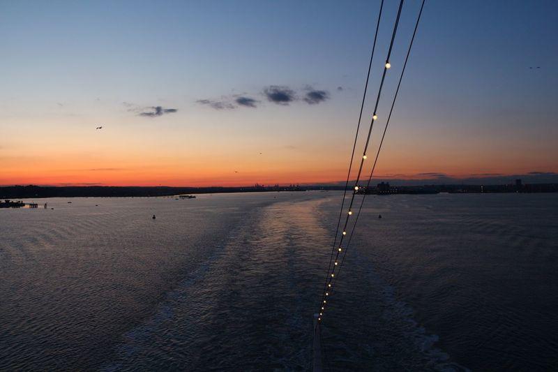 Aida #southampton Cruise Aida Sunset Nature Sea Sky No People Outdoors Scenics Beauty In Nature Water Day