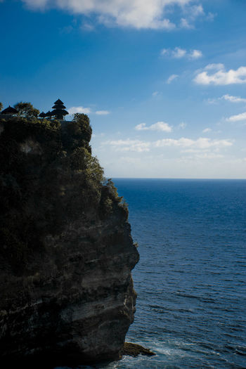 Sea Water Sky Beauty In Nature Horizon Scenics - Nature Rock Horizon Over Water Tranquil Scene Cloud - Sky Tranquility Rock - Object Nature Solid Cliff Rock Formation Day Land No People Outdoors
