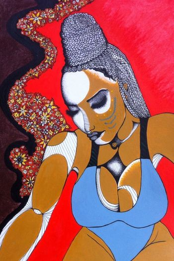Illustration Fineart Popart Tribal Abstract Braids Boxbraids Glamour UrbanART Genskiart