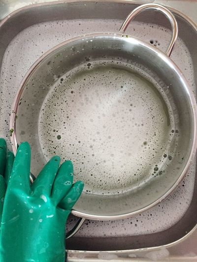 Water Wash To Wash Up Wash The Dishes Washing Up The Dishes Washing Dishes Rinsing Used Rinsing Washing Water Hogwash Dishwater Dish Sink Kitchen Kitchen Utensils Kitchen Sink Utensils Home Stainless Steel  Foam Lather Gloves Glove Cleaning