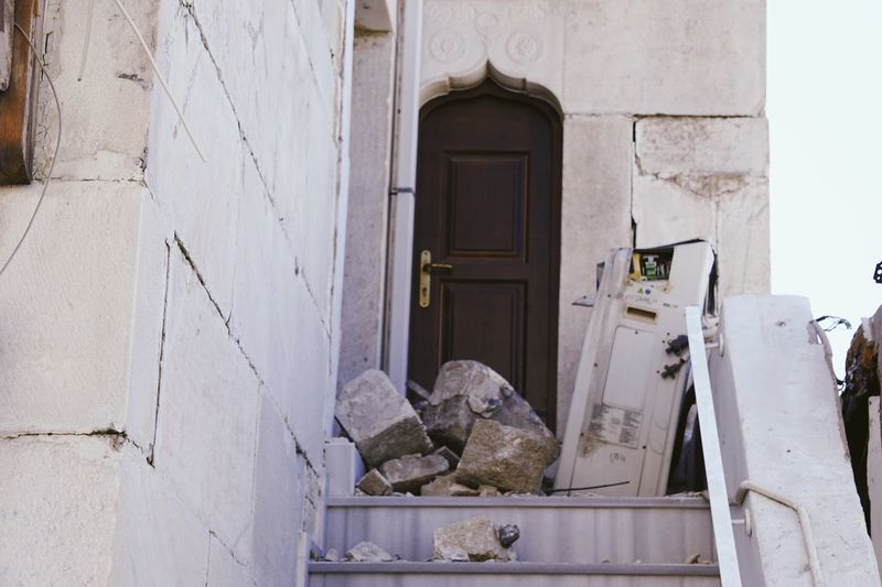 Earthquake Earthquake Earthquake Area Kos Greece Greek Islands Catastrophe Natural Disaster Building Building Exterior Colapse Damaged Damaged And Wrecked Damaged Architecture