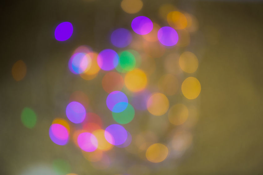 Abstract Backgrounds Christmas Circle Decoration Defocused Electric Light Geometric Shape Glowing Illuminated Lens Flare Light Light - Natural Phenomenon Light Effect Lighting Equipment Multi Colored Night Nightlife No People Outdoors Pattern Purple Shape
