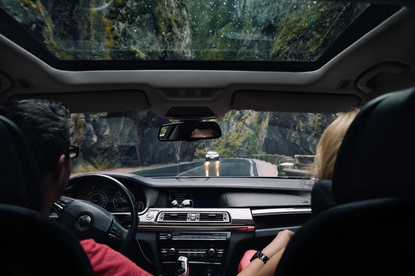 Canyon Rain Nature Car Interior Mountain Rock Formation Car Car Point Of View People Speedometer Passenger Seat Road Trip Road Land Vehicle Driving Journey Dashboard Rear-view Mirror Mountain Road Windshield Vehicle Seat Vehicle Interior Windscreen