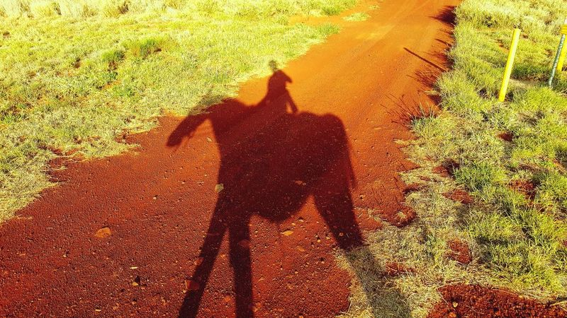 Northern Territory Australia Horseback Riding Shadow Focus On Shadow Sunlight High Angle View Long Shadow - Shadow Day Outdoors Leisure Activity Nature