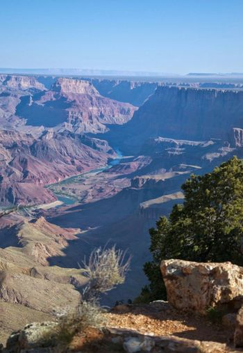 High Angle View Of Grand Canyon National Park Against Clear Sky