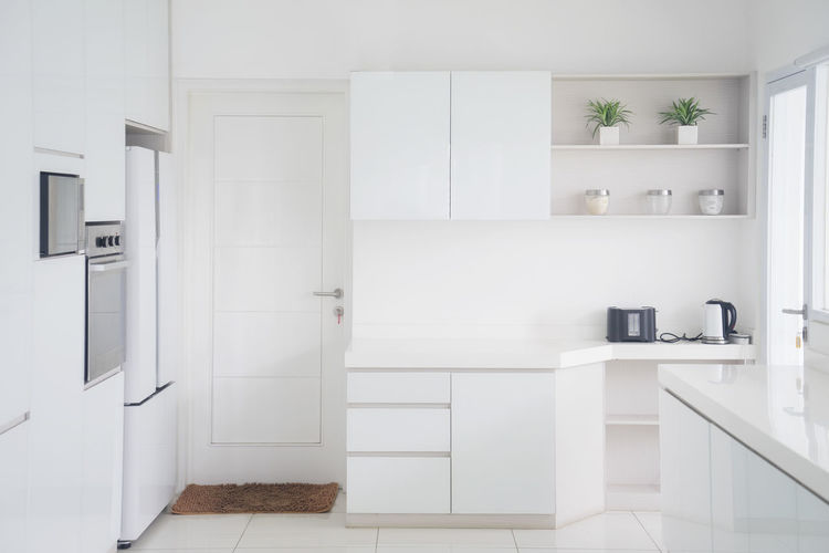 Architecture Cabinet Day Domestic Kitchen Domestic Room Door Home Interior Home Showcase Interior Indoors  Kitchen Luxury Modern No People White Color