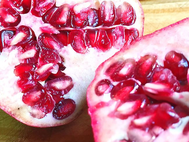 Granada Red Freshness Healthy Eating Fruit Food Food And Drink Indoors  Pomegranate No People Close-up Still Life Berry Fruit Table Day Juicy Seed