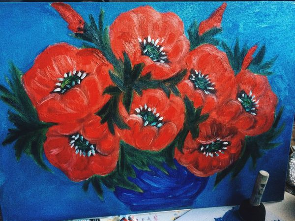 искусство Art хобби Flowers мое творение  картинамаслом картина маки