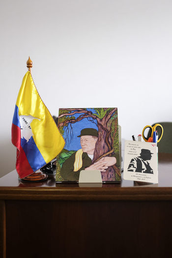 Arley is 28 years old and works to defend human fights for dignified living and against illegal economies in South Bogotá. He is now hiding with his family as he has been receiving serious life threats as many other Colombian social leaders. Bogotá Colombia Farc Furniture Multi Colored Representation