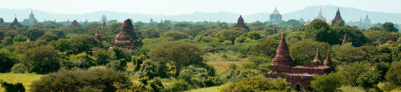 The grand view of Bagan Skyline Temples Tourist Attraction  World Heritage Ancient Ancient Civilization Architecture Bagan, Myanmar Buddhism Buddhist Temple Burma Day History Landscape No People Old Ruin Outdoors Place Of Worship Religion Scenics Spirituality Tourism Travel Travel Destinations Tree