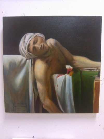 my version of death of marat Oil Painting