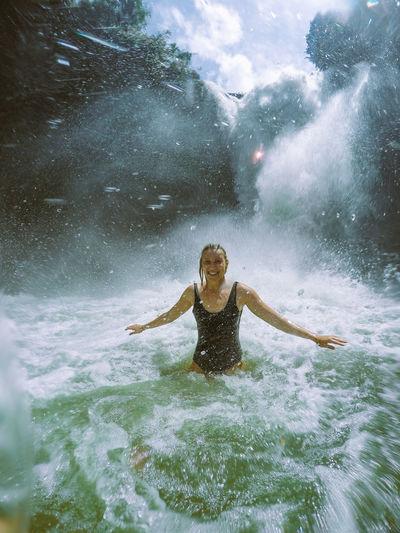 Waterfall fun.