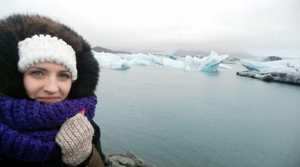 Jökulsárlón Lake Cold Winter ❄⛄ No Gloves Polishgirl Iceland Cold But Beautiful