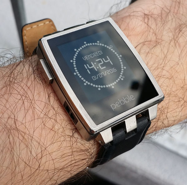 Pebble Watch Close-up Connection Metal Pebble Pebble Steel Screen Silver  Smartwatch Steel Technology Text Time Watch