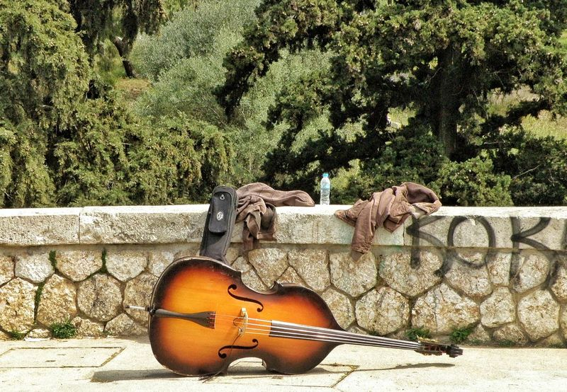 Streetphotography Street Photography Musical Instrument Masonry Paving Masonrywall Streetart Music Is My Life Thisio Athens Athens, Greece