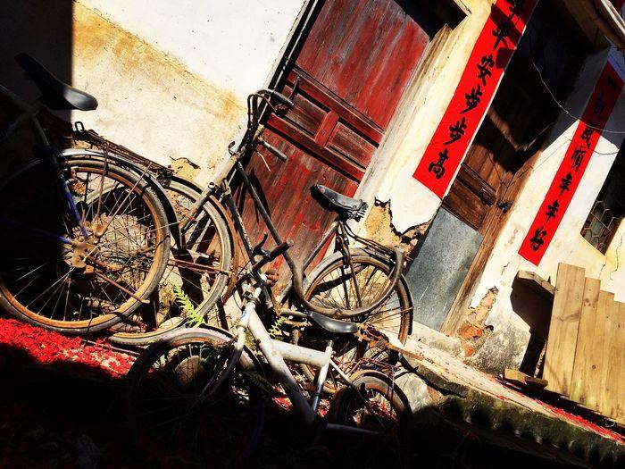 Bike in Hakka Ancient Culture village China