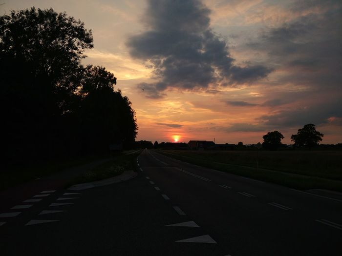 Outdoors Sunset Road No People Tranquility Beauty In Nature The Way Forward Taking Photos ❤ Nature