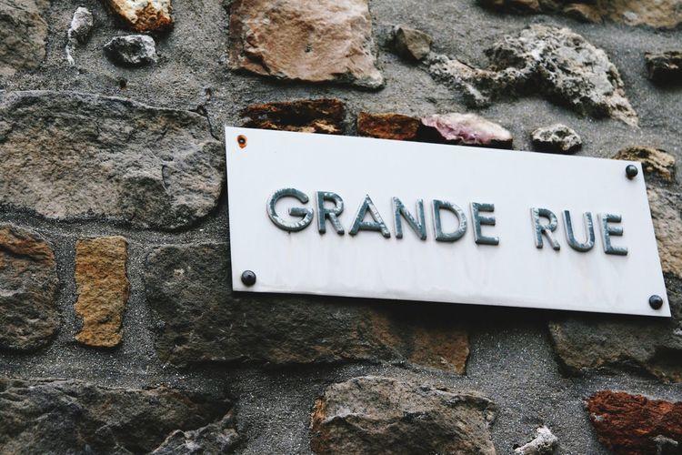 Grande rue street sign