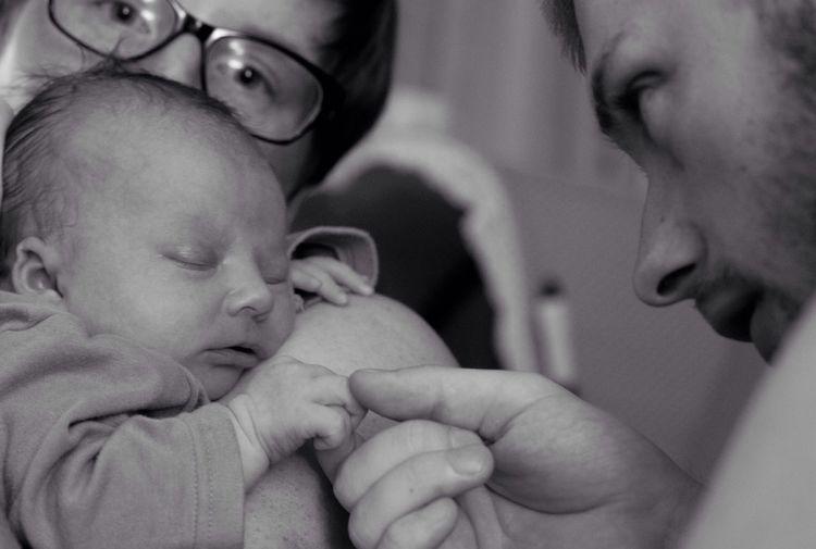 Newborn Baby Touch Life Hands Touching Touching Baby Hand Love Blackandwhite