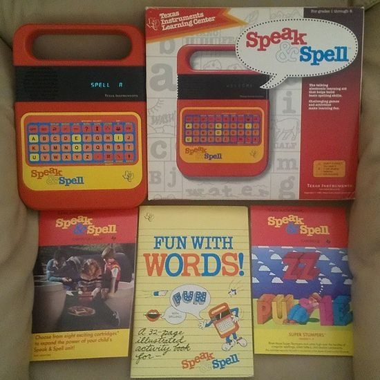 This was one of my Favorite Toys as a child in 1980 . From my personal Collection . Still works 100% Speak &spell Vintage Texasinstruments 80stoys Ilovethe80s Collectibles 80schild Toys4life Toycommunity Vintagetoys Toycollector