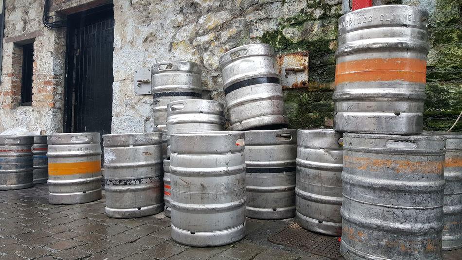 Barrel Beer Kegs Drum - Container Empties No People Outdoors Pub Public House