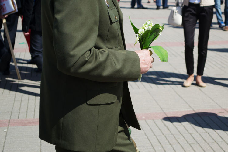 Belarus Ussr Russia Real People Men Clothing Outdoors Day War World War 2 Military Military Parade Military Uniform City Holding Focus On Foreground Nature Walking