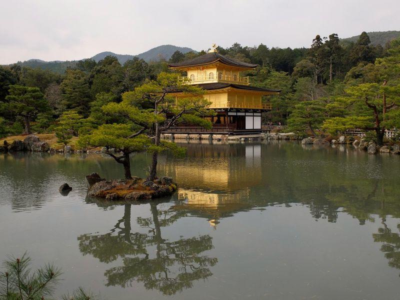 Architecture Building Exterior Exploring Japan Kinkaku-ji Outdoors Reflection Trip Water