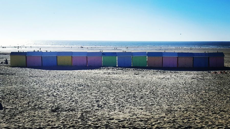 Summertime Nord Pas De Calais Berck Plage Cabines Multicolores
