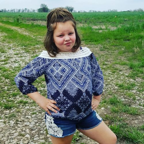 Portrait Front View One Person Real People One Girl Only Outdoors Day Nature Outdoor Photography Casual Clothing Outinthecountry Mylife Kansasphotos Nature Smiling Child