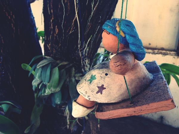 Little Girl.. 16Snow EyeEm Selects No People Close-up Nature Plant Part Leaf Day Representation Toy Stuffed Toy Outdoors Focus On Foreground