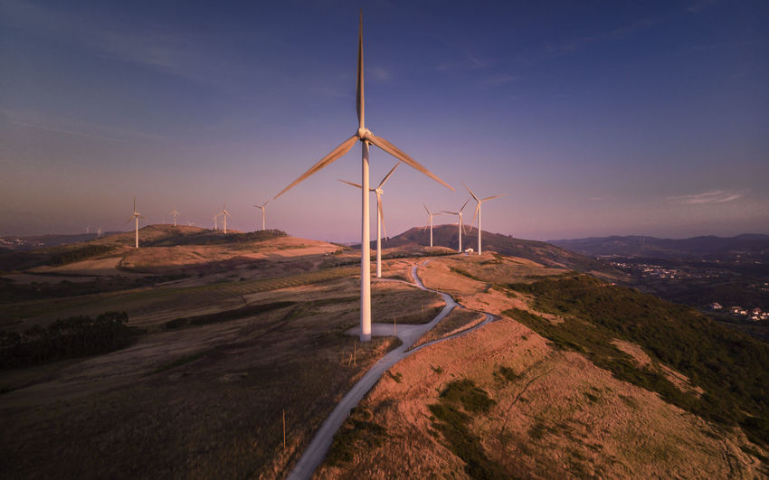 Alternative Energy Beauty In Nature Environment Environmental Conservation Fuel And Power Generation Land Landscape Mountain Nature No People Non-urban Scene Outdoors Renewable Energy Scenics - Nature Sky Sustainable Resources Tranquil Scene Tranquility Turbine Wind Power Wind Turbine