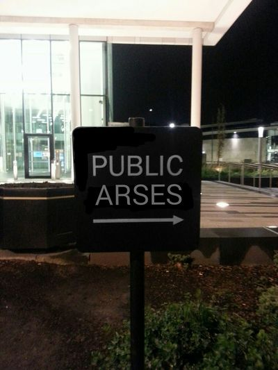 Seeing The Sights Public Arses Public Signage