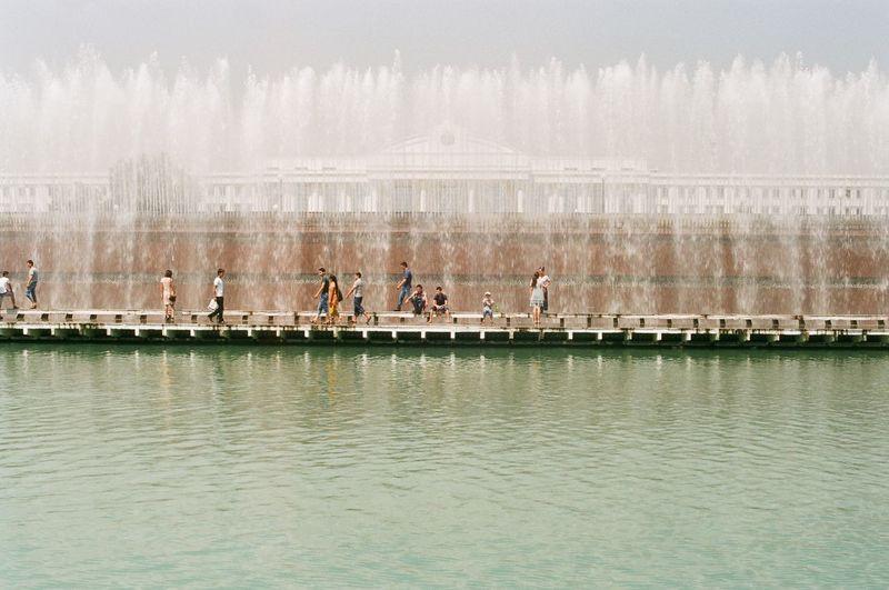 Analogue Photography Film Fountain Tashkent Uzbekistan Water