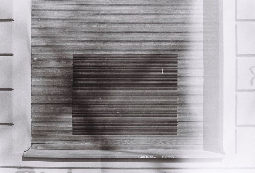 Shuttered Closed Window  Shuttered Windows Shutter Metal Window No People Wood - Material Built Structure Blinds Backgrounds Architecture Close-up Day Indoors  Building Exterior Corrugated Iron Brushed Metal Eye ❤️ Foto Kotti Analogue Moments Pentax Me 35mm Film Film Is Not Dead Afternoon Light