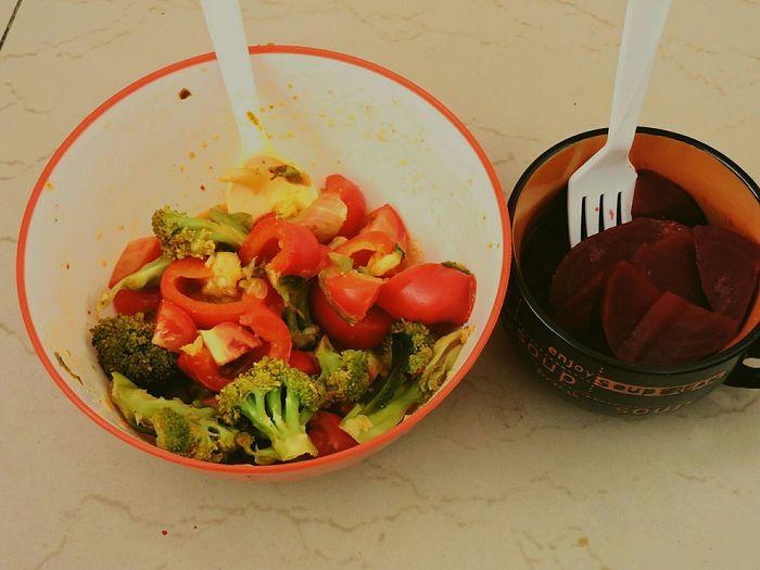 Salad Time Lunch Time:) Vegetarian Food Vegetarian Gym Life