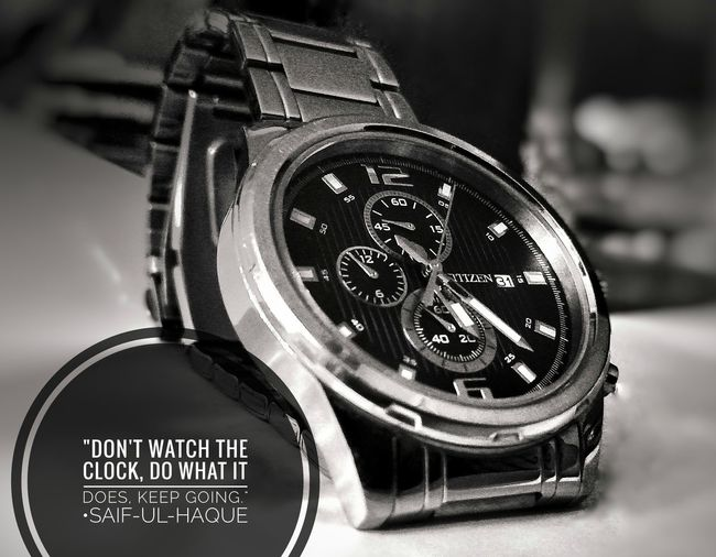 Close-up Countdown First Eyeem Photo Wristwatch Qoutes Old-fashioned Citizen Citizenwatch Silver  Blackandwhite Oldschool
