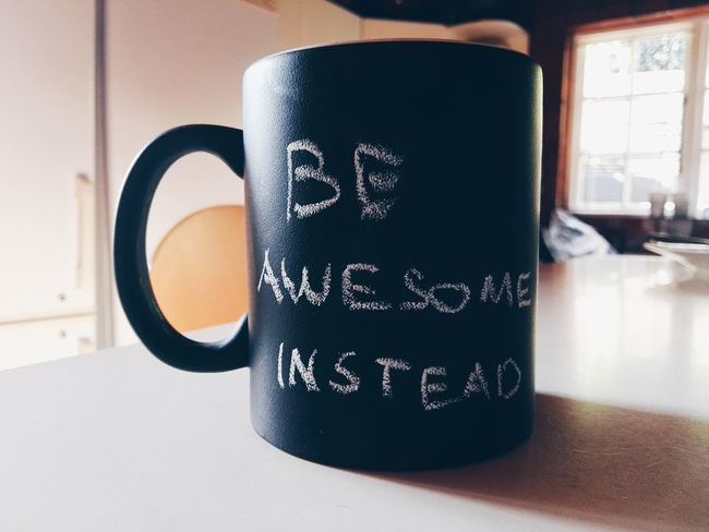 Why not just be awesome instead? Beawesome Be Yourself :)