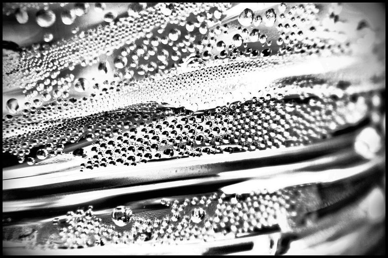 Abstract Blackandwhite Contrast Bubbles Backlight