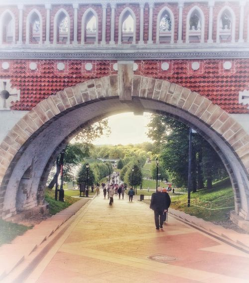 Russia Ancient Moscow Palace Bridge Group Of People Real People Architecture Crowd Men Large Group Of People Day Lifestyles Built Structure City Walking Outdoors Leisure Activity